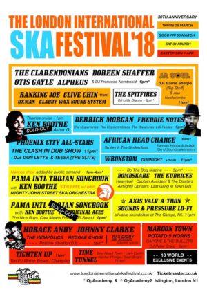 London Intl Ska Festival 2018 poster
